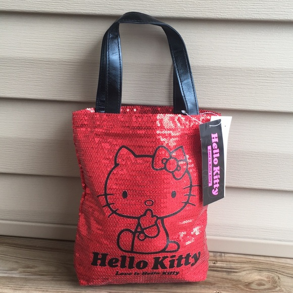 95603138f Sanrio Bags | Nwt Hello Kitty Red Sequin Tote | Poshmark